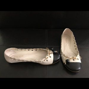 Kate Spade Classic Black and White Ballet Flats